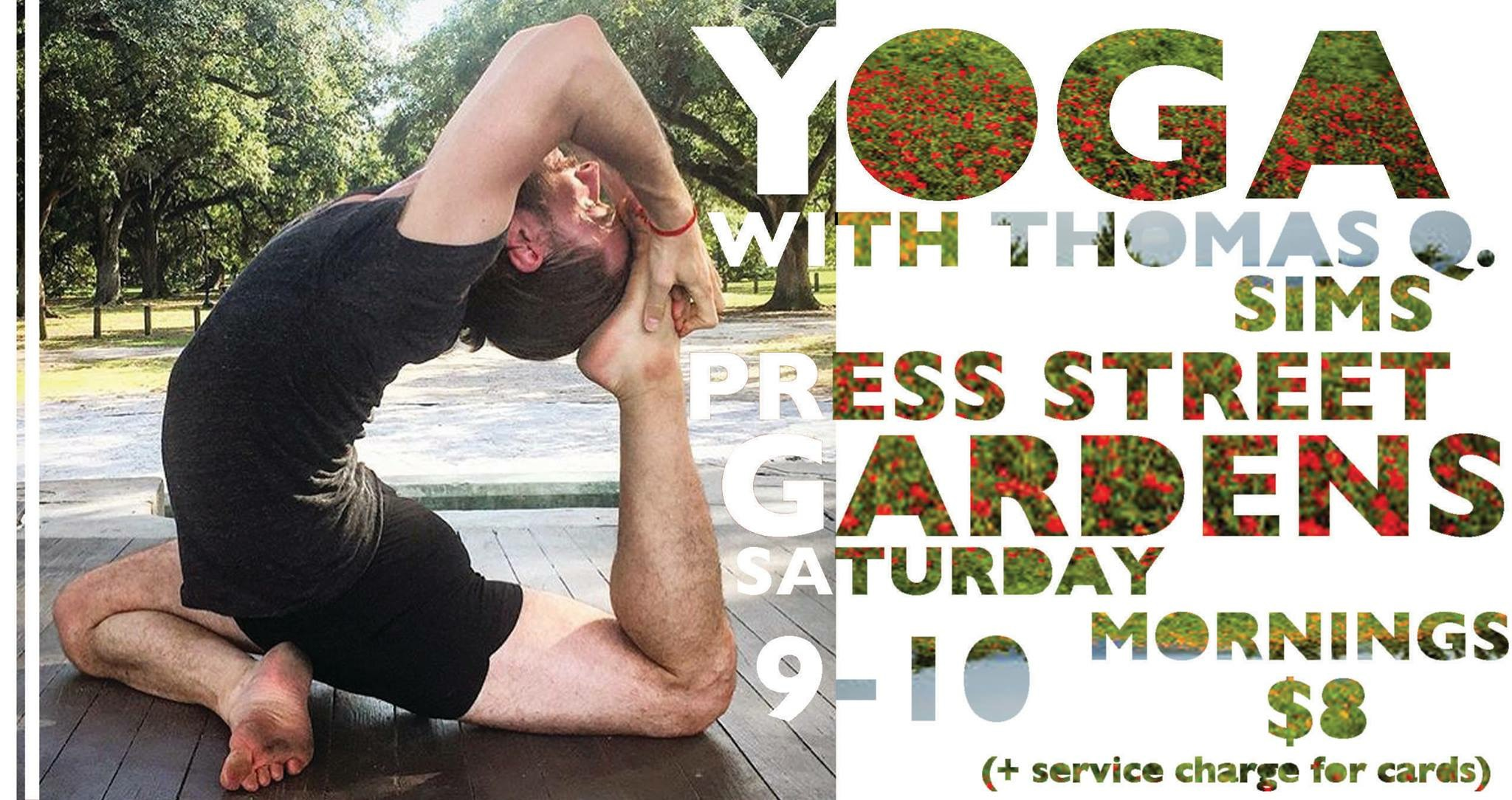 Saturday Mornings In Press Street Gardens: Yoga With Thomas Q. Sims